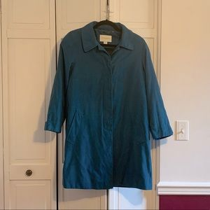 Appleseed's Teal Blue Double Layered Coat